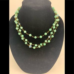 Ali and Bird jade 3 strand necklace